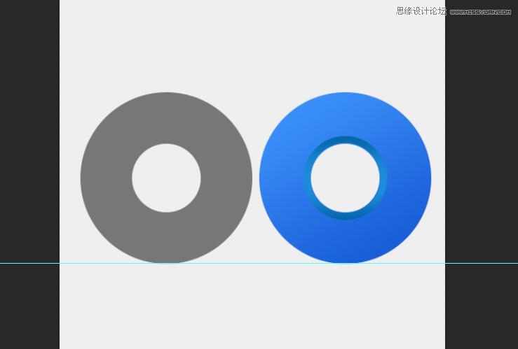 Photoshop鼠绘蓝色立体风格的QQ浏览器图标