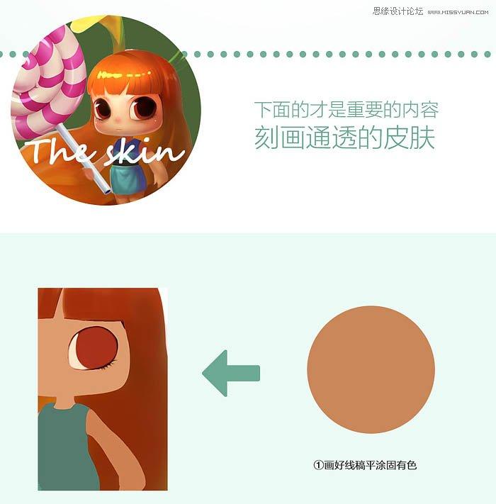 Photoshop鼠绘绘制立体质感的棒棒糖女孩教程
