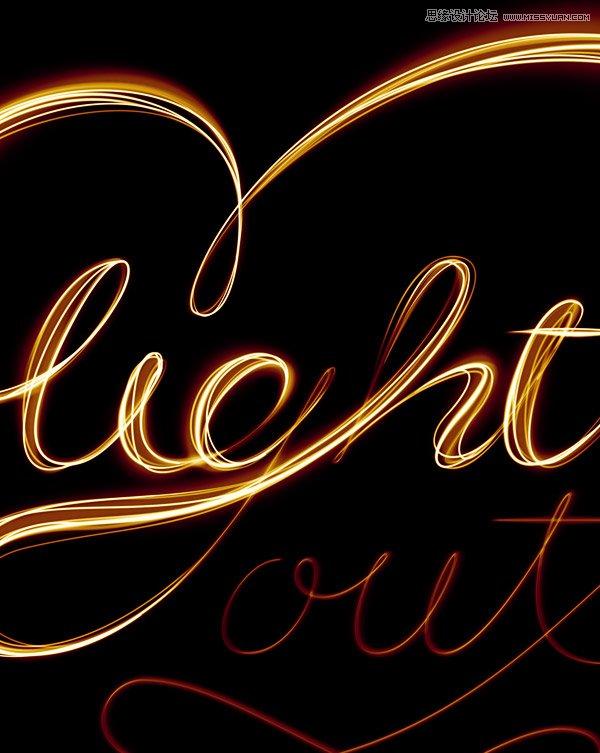 Photoshop绘制绚丽闪烁的光斑艺术字教程