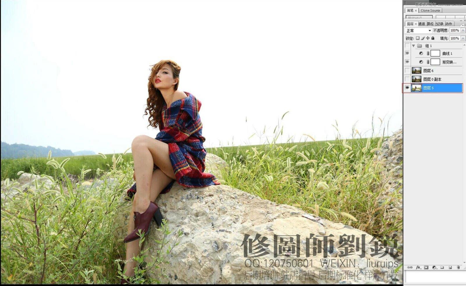 Photoshop调出柔美暖色效果的外景女孩照片