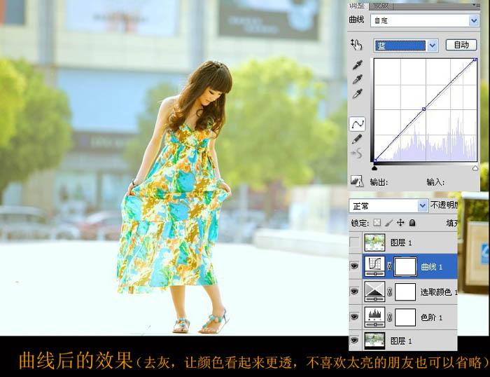 使用Photoshop给灰色街拍照片偏复提亮处理