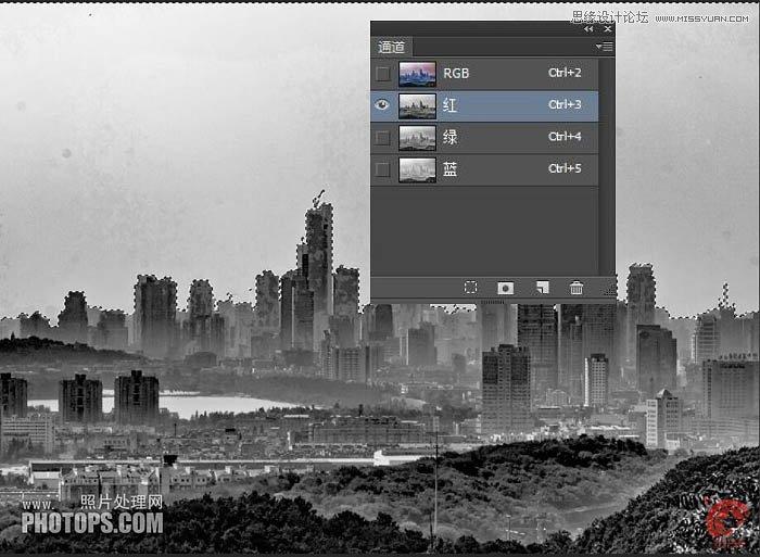 Photoshop修图将灰蒙蒙城市照片变清新效果