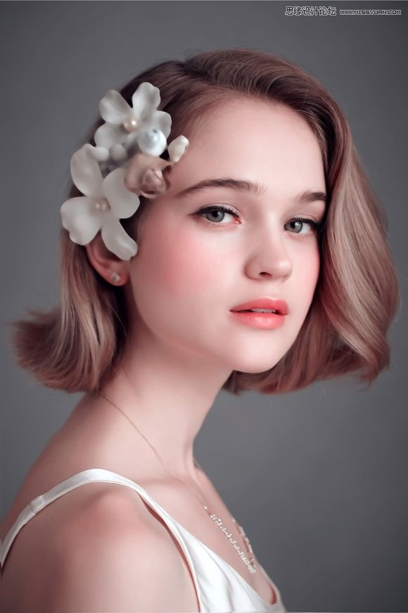 Photoshop结合SAI软件转手绘效果的女孩照片