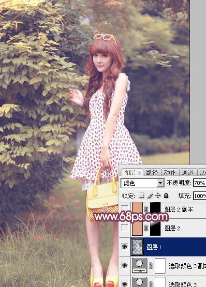 Photoshop调出秋天色彩的娇小可爱女生照片