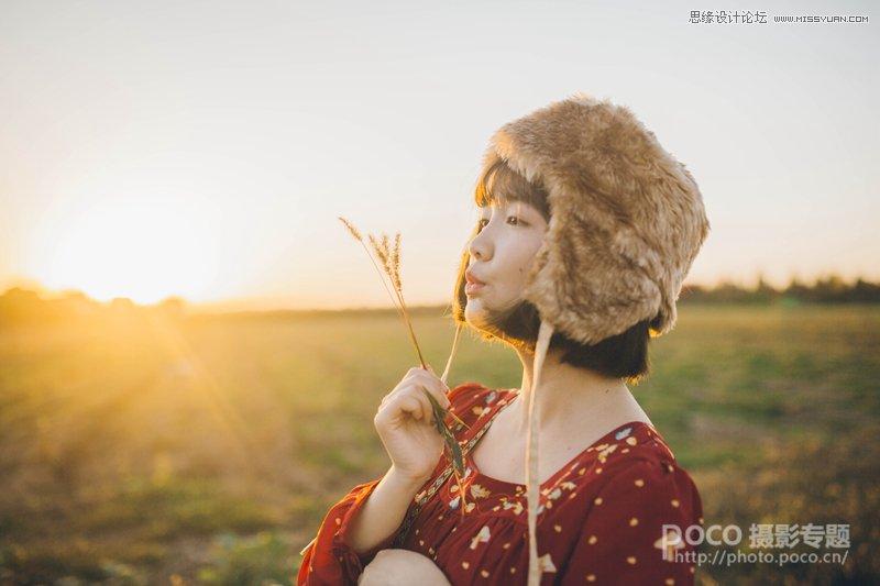 Photoshop简单三步调出秋季暖色调的外景人像