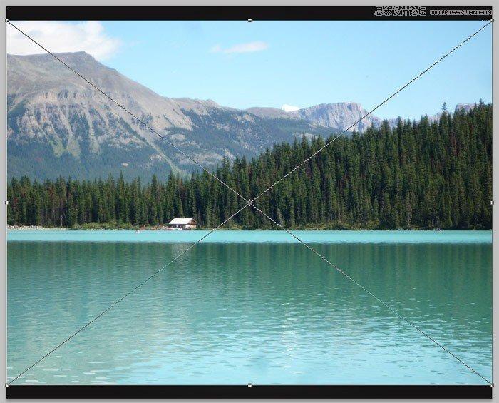 Photoshop合成月色下的江上渔船灯火场景教程