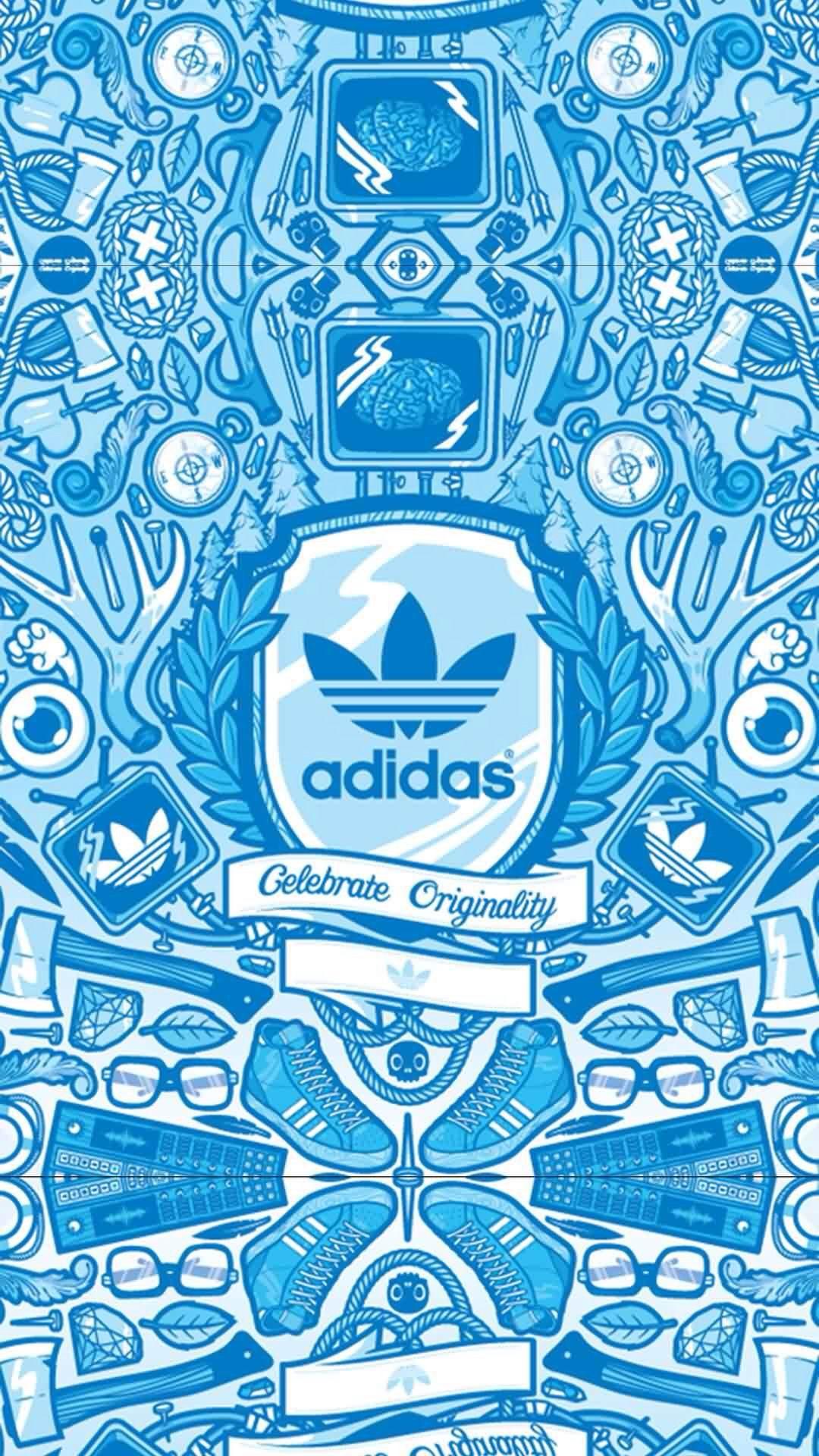 Adidas三叶草手机壁纸