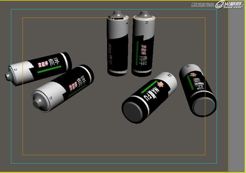 3ds Max使用Blend混合材质制作电池