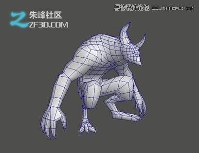 3dsMAX制作火离妖游戏模型过程