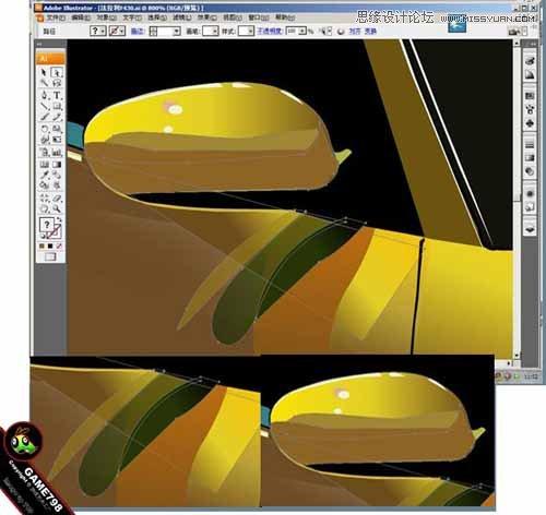 Illustrator打造超酷的保时捷超级跑车