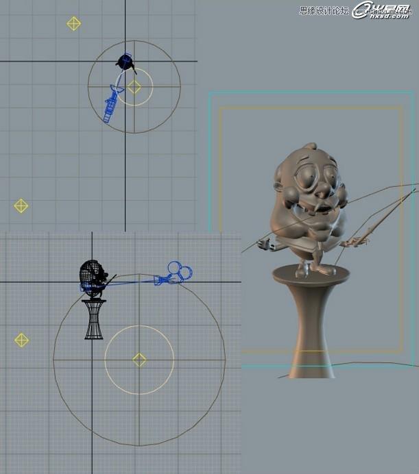 3ds Max绘制卡通立体效果的指挥家