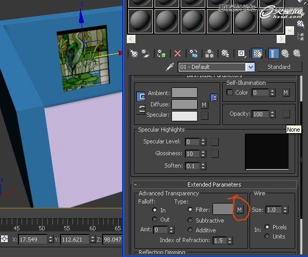 3ds Max打造彩色玻璃效果图教程