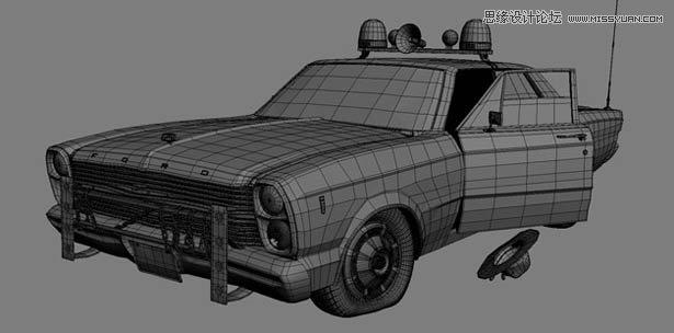 3ds Max制作马路上的破旧汽车教程