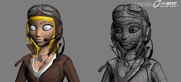 3ds Max绘制三维角色飞行员安妮教程