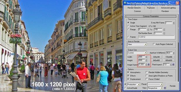 3Dmax基础教程:六步设置3dsmax的相机匹配