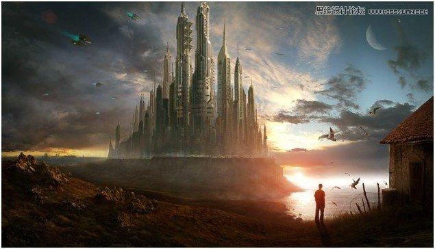 3Dx Max制作月光下的城堡CG场景教程