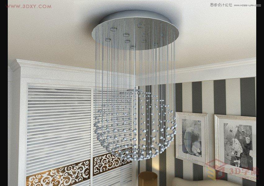 3DMAX制作玻璃风格水晶灯材质教程