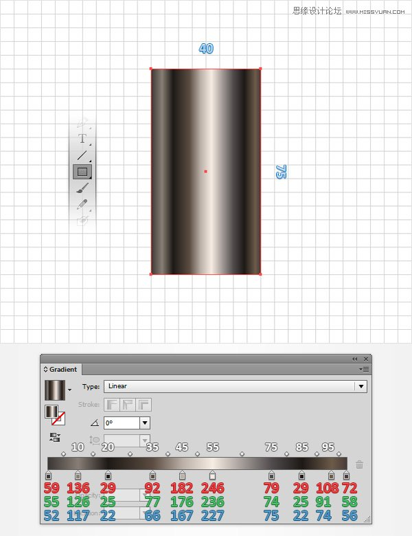 Illustrator制作神话般的指甲油文字效果
