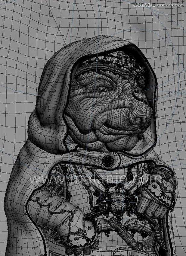 3DMAX制作身穿盔甲的外星人教程