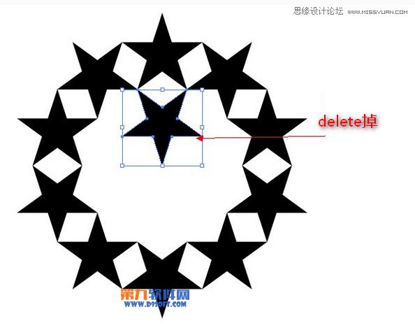 Illustrator制作复杂的五角星图案教程