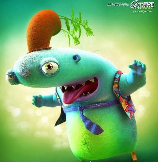 3ds Max制作吓人的外星小怪物