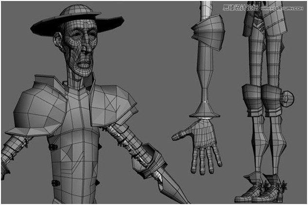 """3Ds Max制作""""唐吉可德""""人物教程"""
