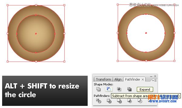 Illustrator制作时尚大气的放大镜教程