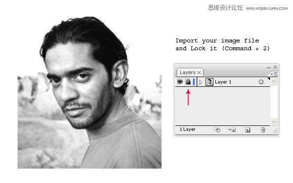 Illustrator把照片制作成矢量线条插画