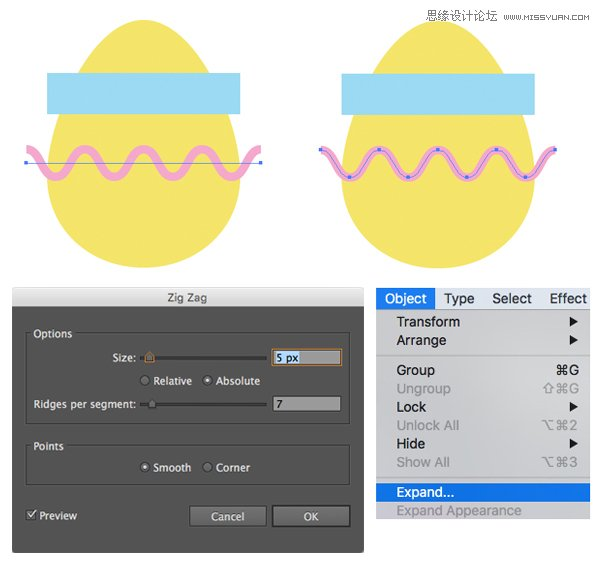 Illustrator绘制扁平化风格的复活节图标