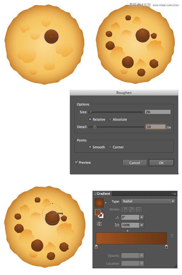 Illustrator绘制逼真的牛奶和燕麦饼干