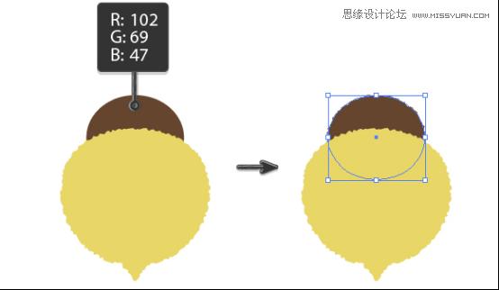 Illustrator绘制抽象风格的小蜜蜂效果