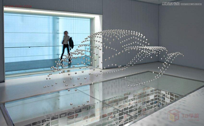 3DMAX制作悬浮球体艺术造型雕塑效果