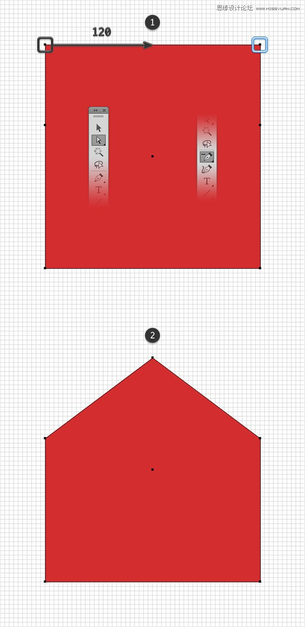 Illustrator绘制立体风格的红色信封图标