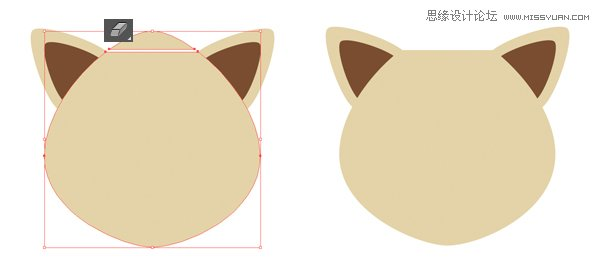 Illustrator制作扁平化动物卡通头像教程