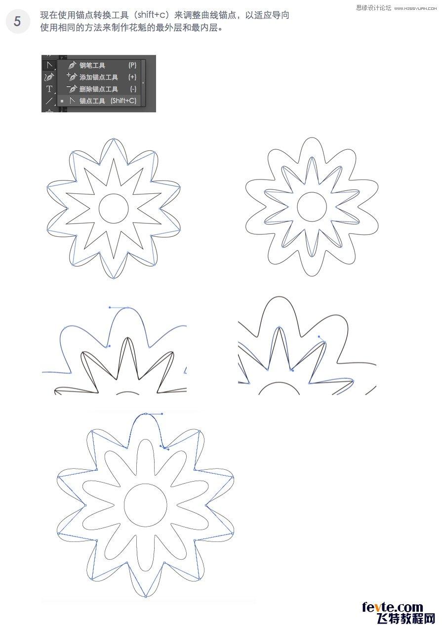 Illustrator绘制时尚绚丽的花朵效果图