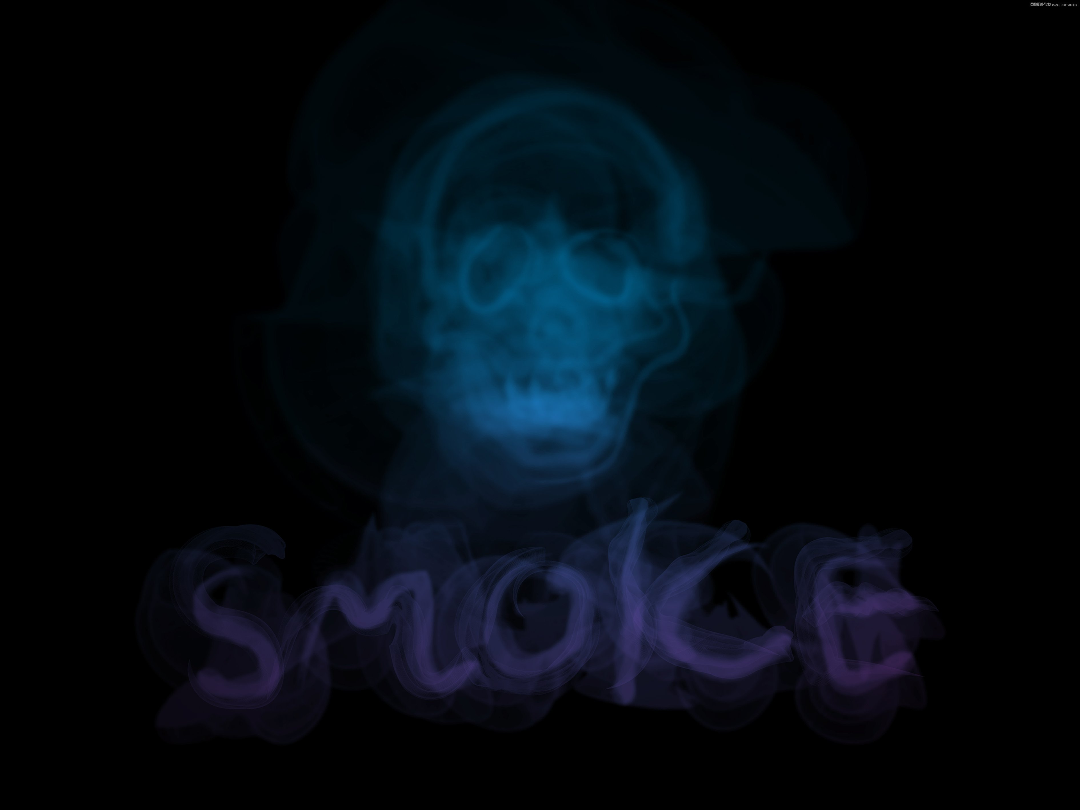 Illustrator制作烟雾缭绕的艺术字教程