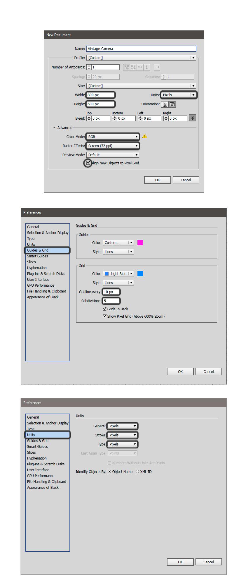 使用Illustrator绘制扁平化风格的复古相机图标教程