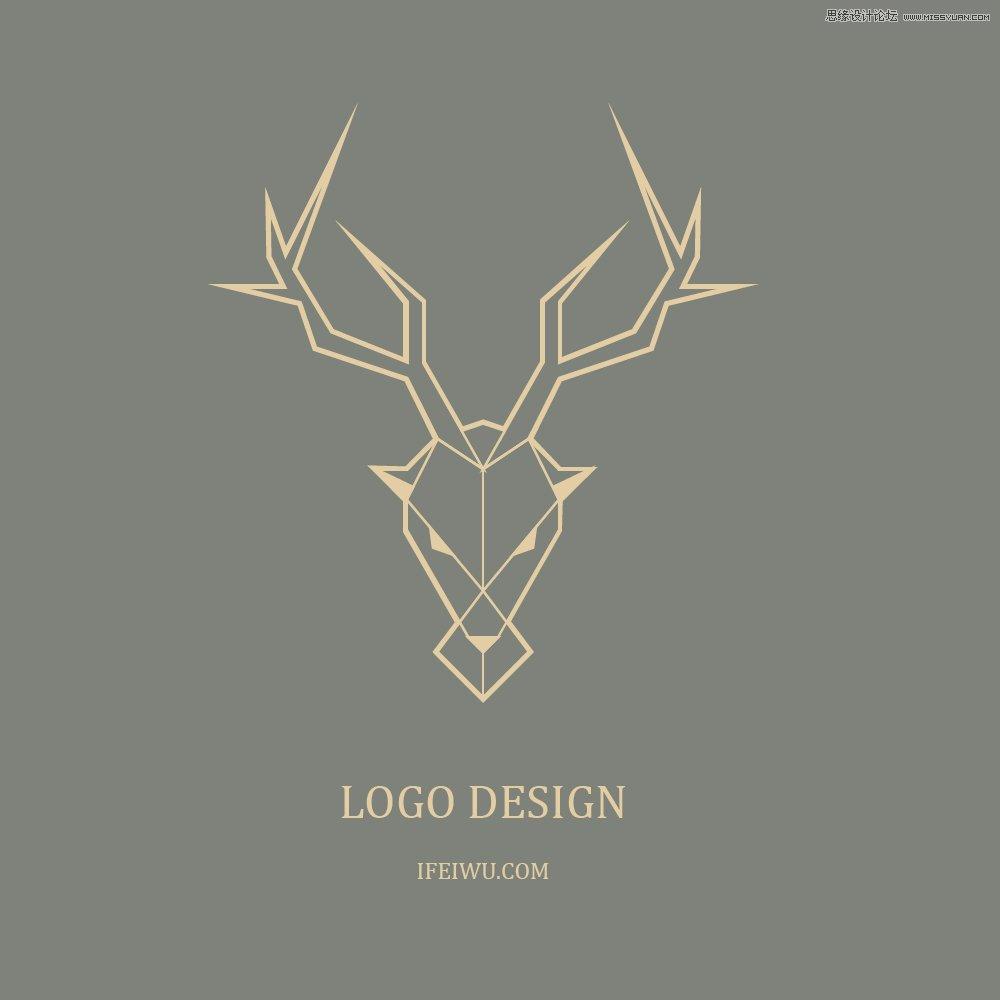 Illustrator绘制简约时尚的鹿形LOGO教程