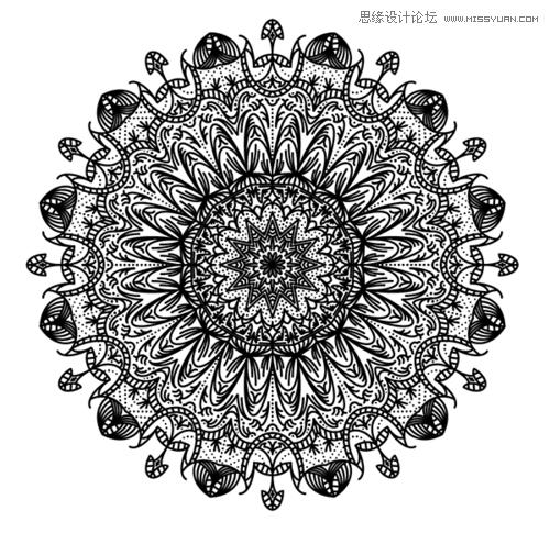 Illustrator创建繁复之美的曼陀罗图案教程